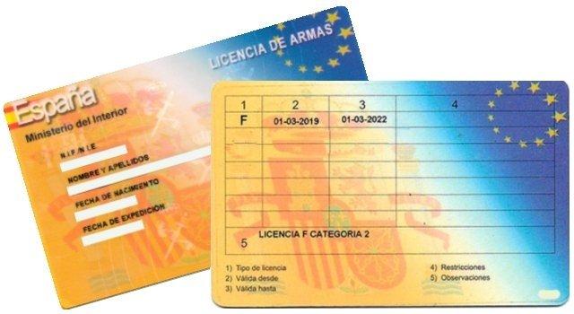 carnet licencia armas