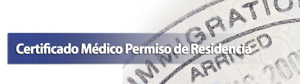 certificado medico permiso residencia