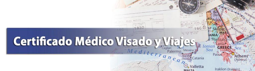 certificado medico visado y viajes