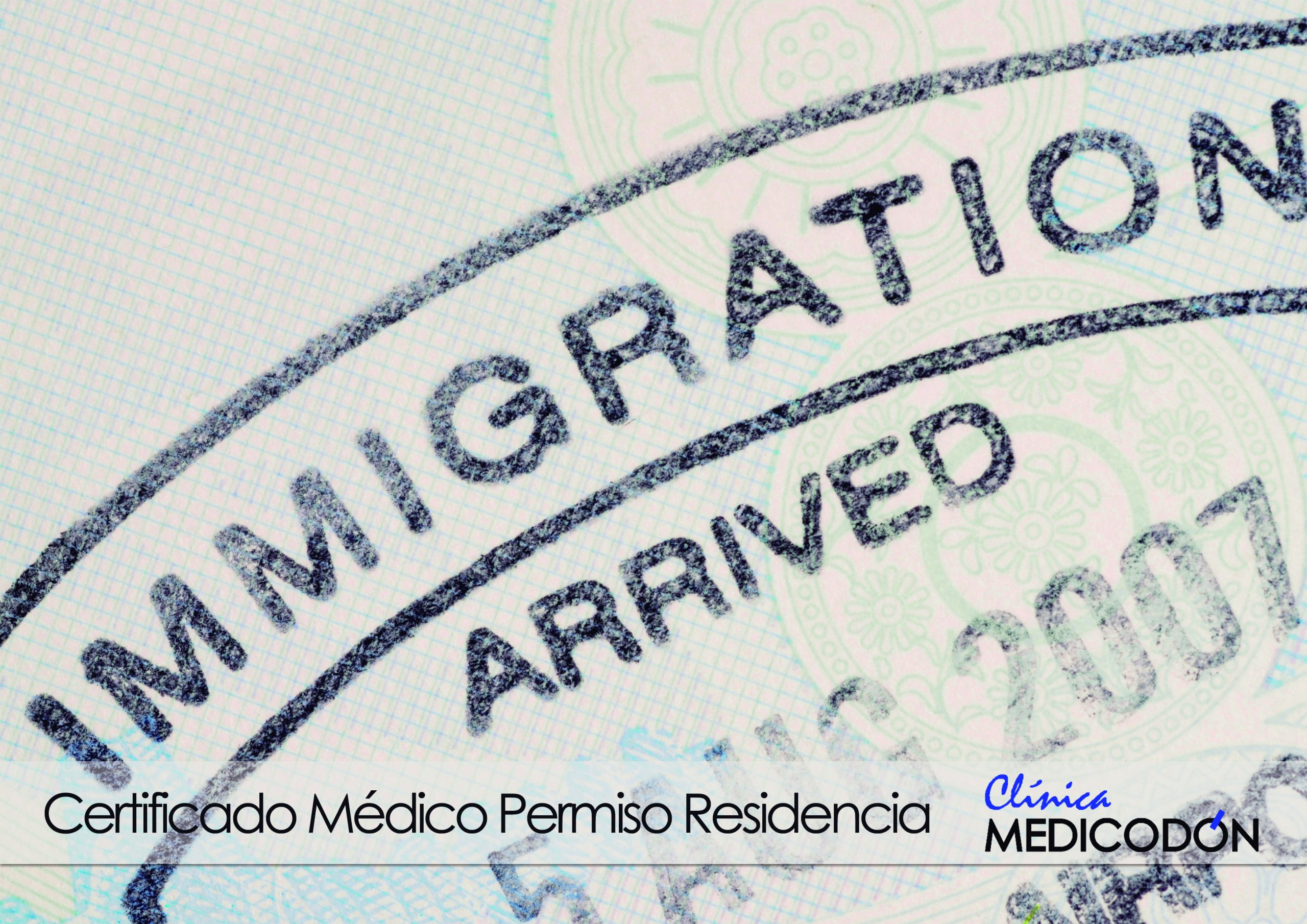 Certificado para permiso de residencia