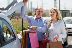 jubilados de compras