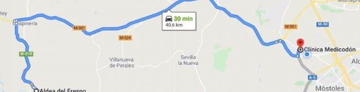 aldea del fresno mapa